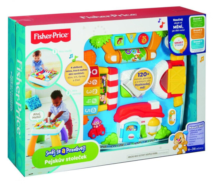Fisher Price pejskův stoleček smart stages