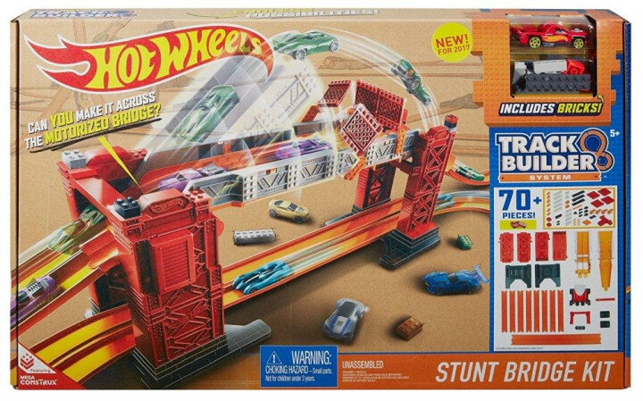 Hot Wheels track builder padací most