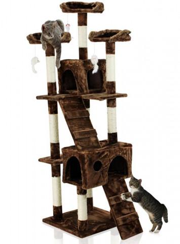Hawaj Škrabadlo pro kočky 170 cm tmavě hnědá 201503170