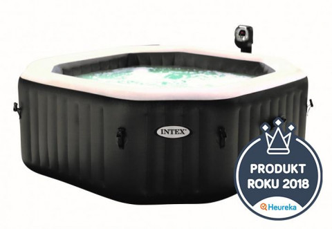 INTEX 28454 Jet & Bubble Spa Deluxe Octagon 201 x 201 x 71 cm - 4 osoby
