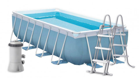 INTEX PRISM FRAME RECTANGULAR POOL 400 x 200 x 100 cm 26776GN