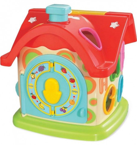 Baby Mix edukační hračka Domeček s hodinami