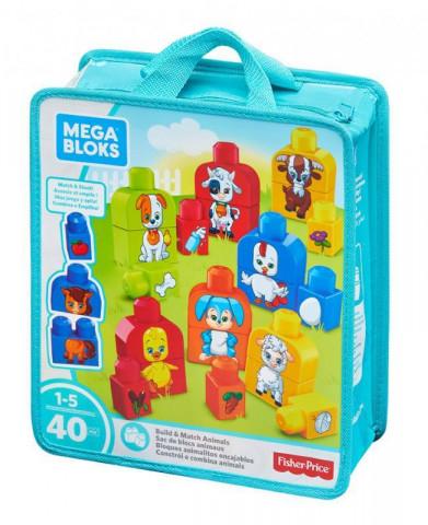 Mega Bloks sestav si zvířátka (40ks)