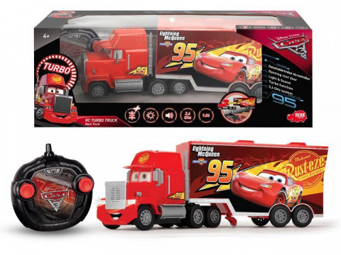 RC Cars 3 Turbo Mack Truck 46 cm 3kan Blesk McQueen 1:24 2kan