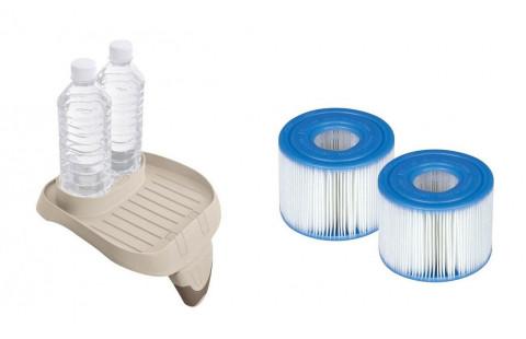 Držák nápojů + 2x Kartušový filtr pro vířivky Intex PureSpa