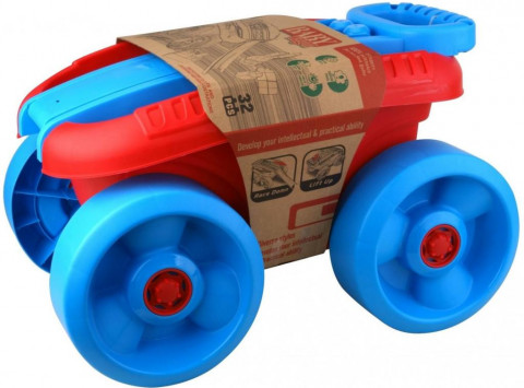 Alltoys Vozík s kostkami velký 32 ks