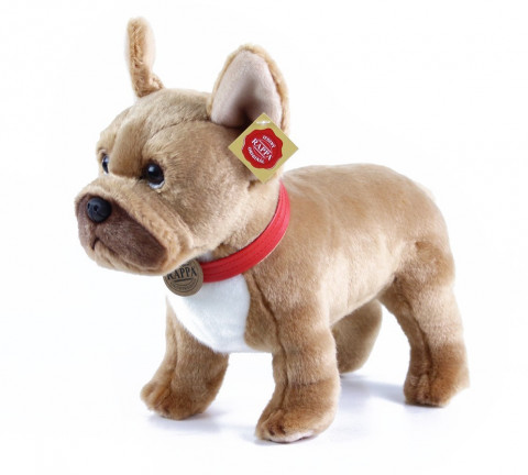 Rappa Plyšový pes francouzský buldoček 30 cm | světle hnědý 357211
