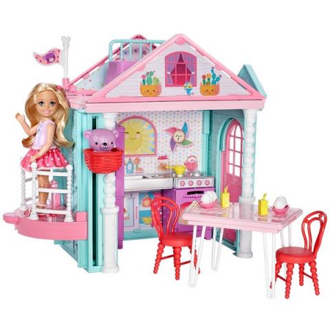 Mattel Panenka Barbie Chelsea a Domeček