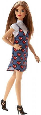 Mattel Barbie modelka | šaty se srdíčky 25FBR37