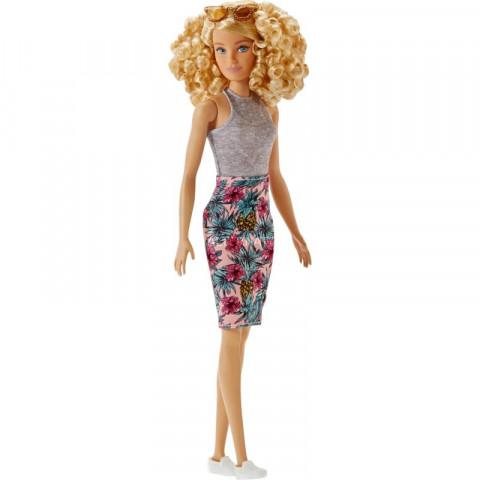 Mattel Barbie modelka | šaty s tropickými motivy 25FBR37