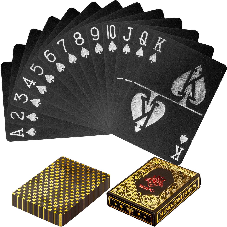 Max Poker karty plastové černo-zlaté