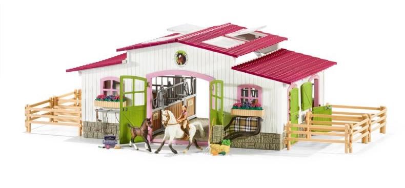 Schleich 42344 Stáj s koňmi a příslušenstvím