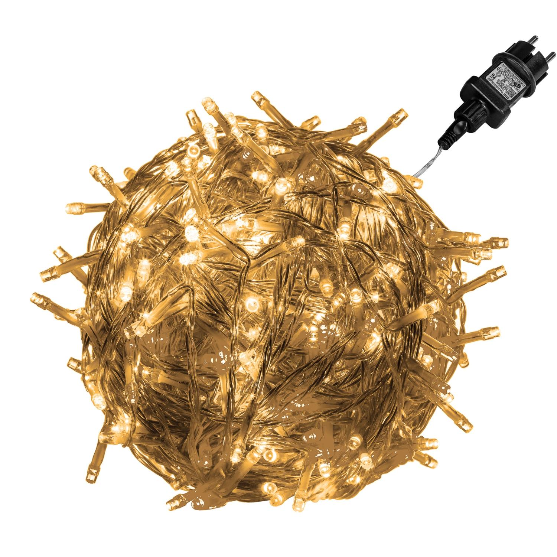 Vánoční LED osvětlení 20 m | teplá bílá 200 LED