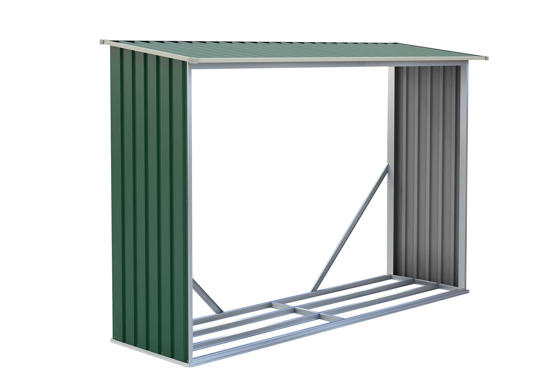 Přístřešek na dřevo G21 WOH 181 - 242 x 75 cm, zelený