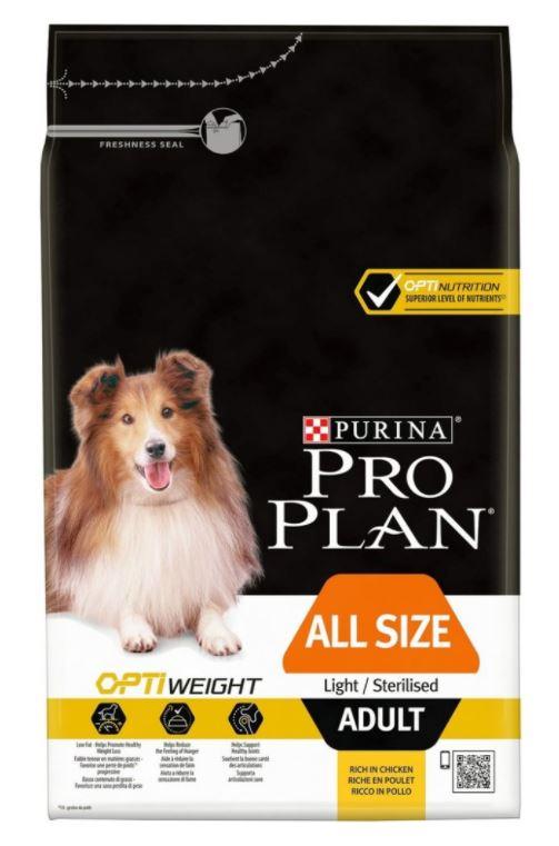 Purina Pro Plan Dog Adult All Sizes Light/Sterilised 3 kg