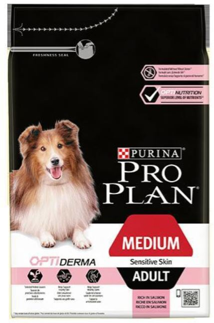 Purina Pro Plan Dog Adult Medium Sensitive Skin 14 kg