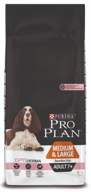 Purina Pro Plan Dog Adult Medium&Large 7+ Sensitive Skin 14 kg