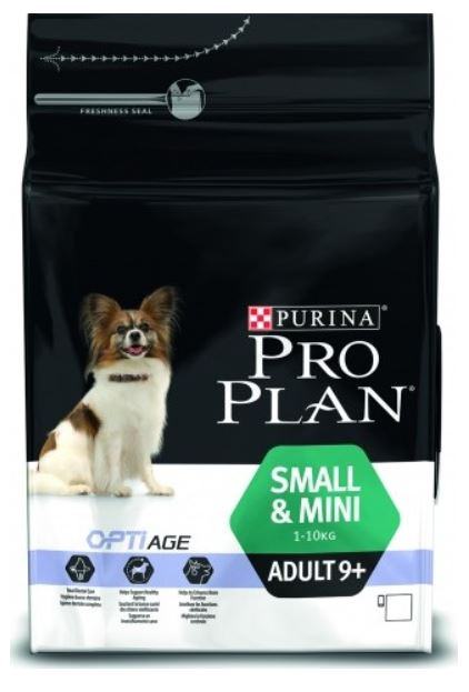 Purina Pro Plan Dog Adult Small&Mini 9+ 7 kg. Krmivo po datu min. trvanlivosti - květen/21