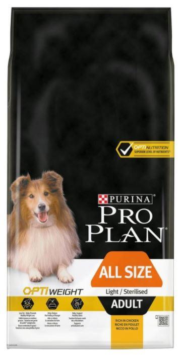 Purina Pro Plan Dog Adult All Size Light/Sterilised Kuře 14 kg