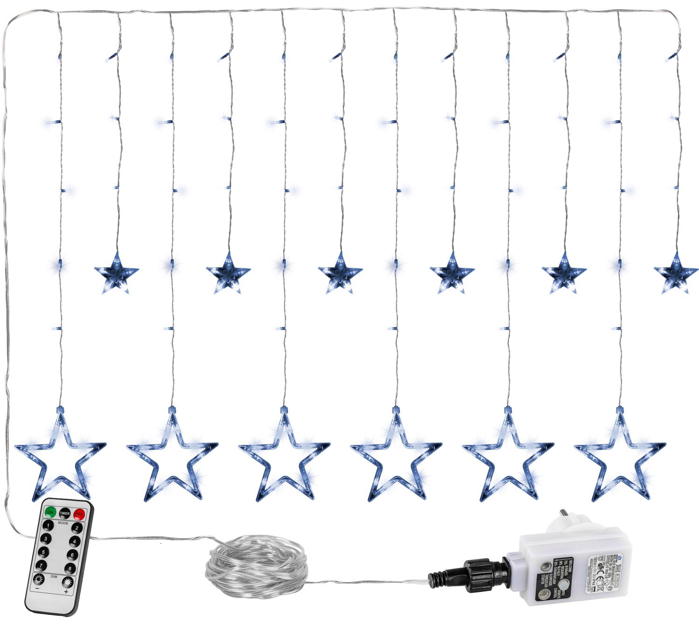 Goleto Vánoční LED závěs 12 hvězdiček, studená bílá