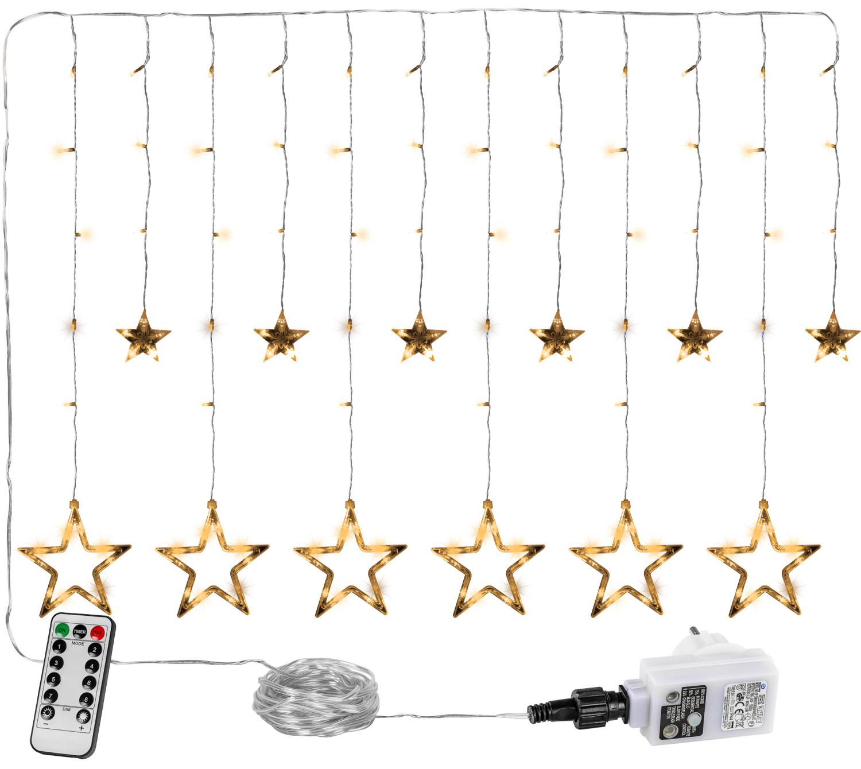 Goleto Vánoční LED závěs 12 hvězdiček, teplá bílá