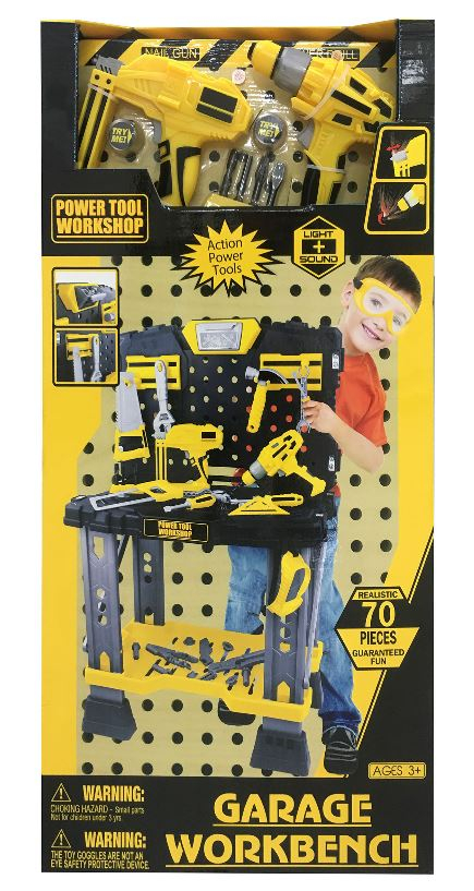 G21 nářadí pracovní stůl s nářadím žlutošedý