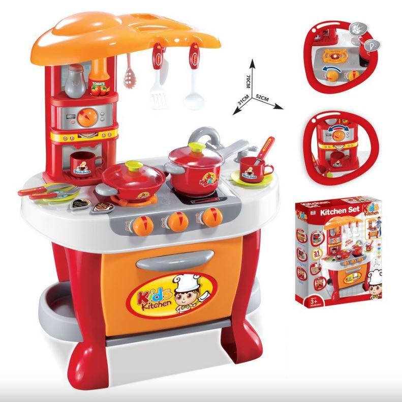 G21 kuchyňka Malý kuchař s příslušenstvím oranžová
