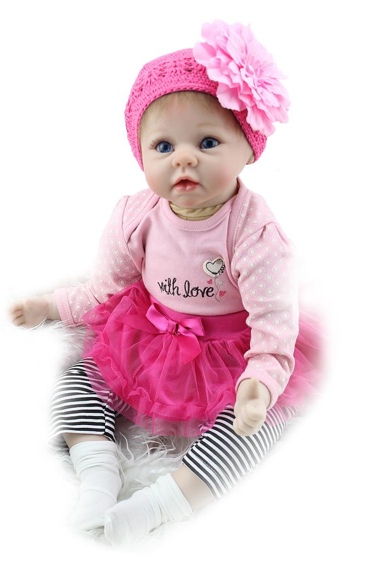 Hawaj Reborn realistická panenka na hraní Silvinka, 60 cm