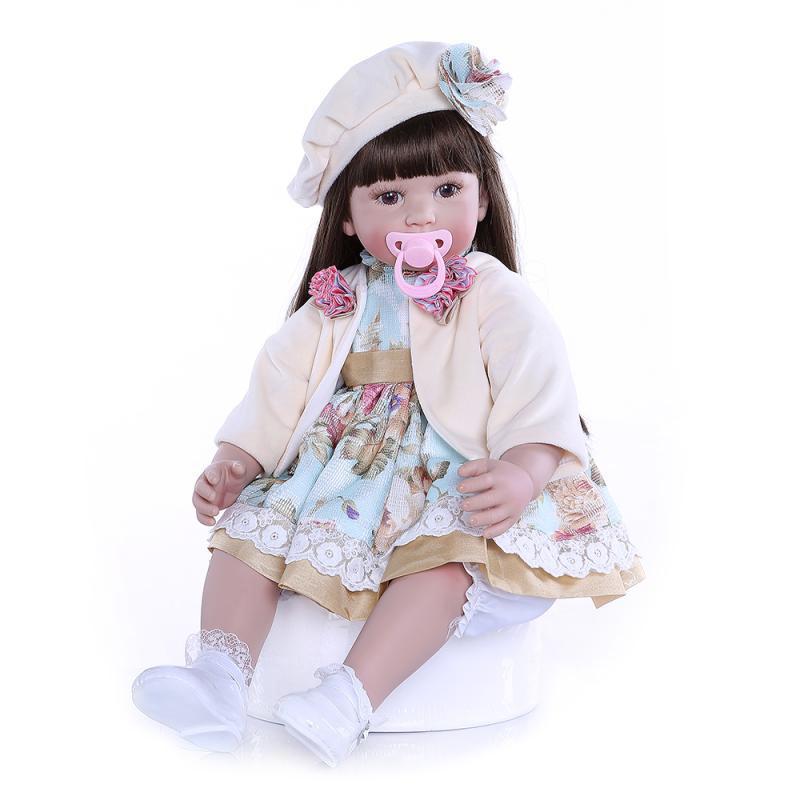 Hawaj Reborn realistická panenka na hraní Klárinka, 60 cm