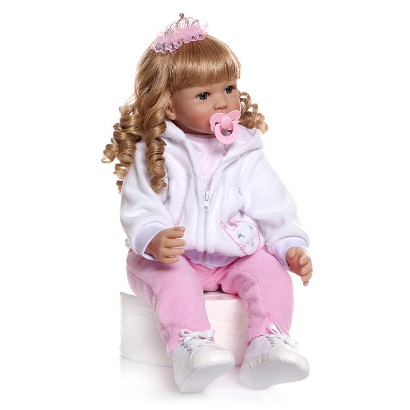 Hawaj Reborn realistická panenka na hraní Magdalénka, 60 cm