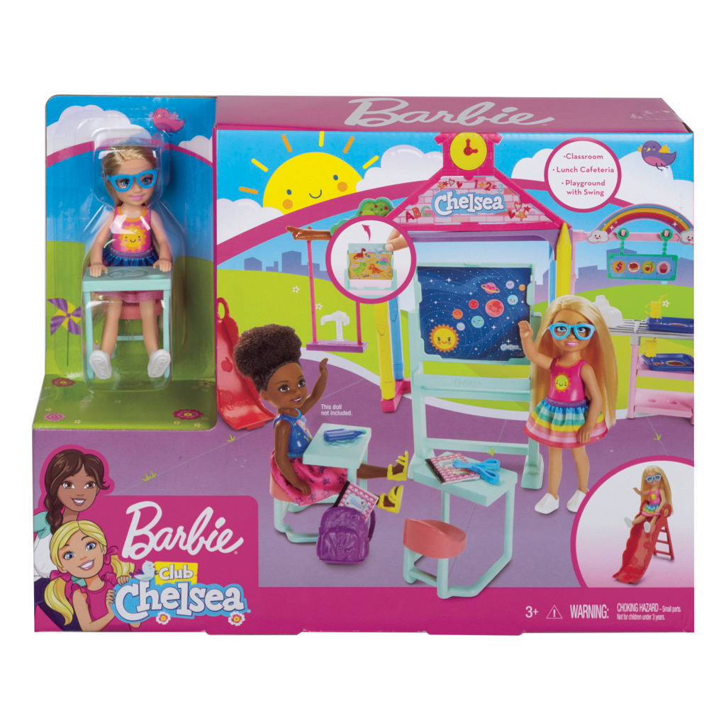 Barbie Herní set Chelsea školička