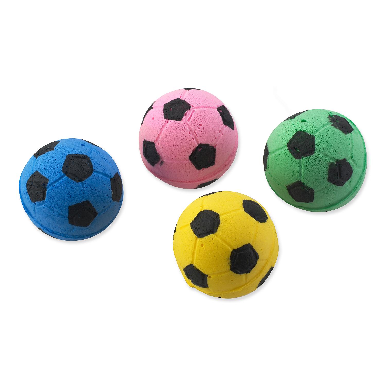 MAGIC CAT hračka míček pěnový fotbalový 3,75 cm 4 ks