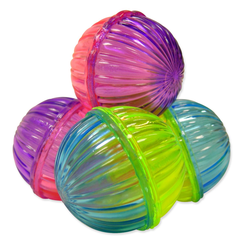 MAGIC CAT hračka míček lesklý plastový chrastící 3,75 cm 4 ks