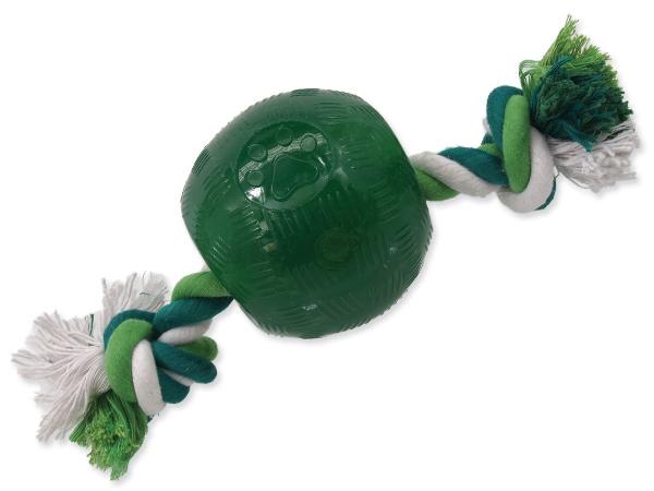Dog Fantasy Strong míček gumový s provazem 9,5 cm