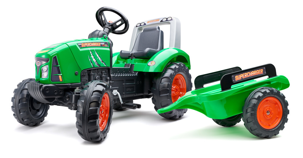 FALK Šlapací traktor 2021AB Supercharger zelený
