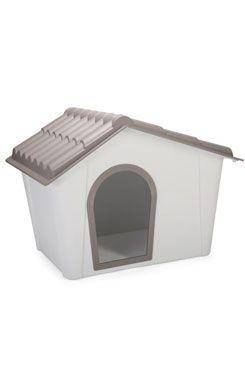 IMAC Bouda pro psa plastová šedá/hnědá 98,5 x 77,5 x 72,5 cm