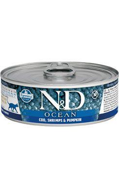 N&D CAT OCEAN Adult Tuna Cod Shrimp & Pumpkin 80 g