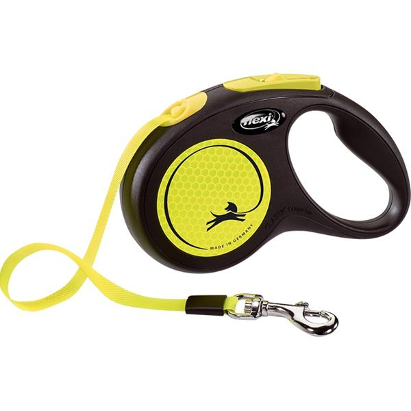 Vodítko Flexi New Neon S pásek 5 m žluté 15 kg