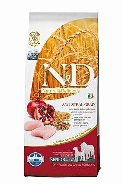 N&D Low Grain Dog Senior Medium & Maxi Chicken & Pomegranate 12 kg