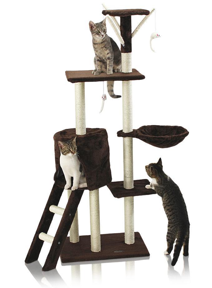 Hawaj Škrabadlo pro kočky 138 cm tmavě hnědá 201503