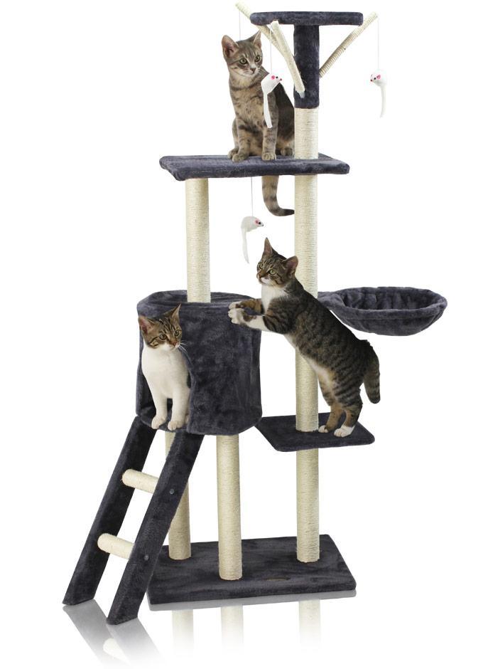 Hawaj Škrabadlo pro kočky 138 cm tmavě šedá 201504