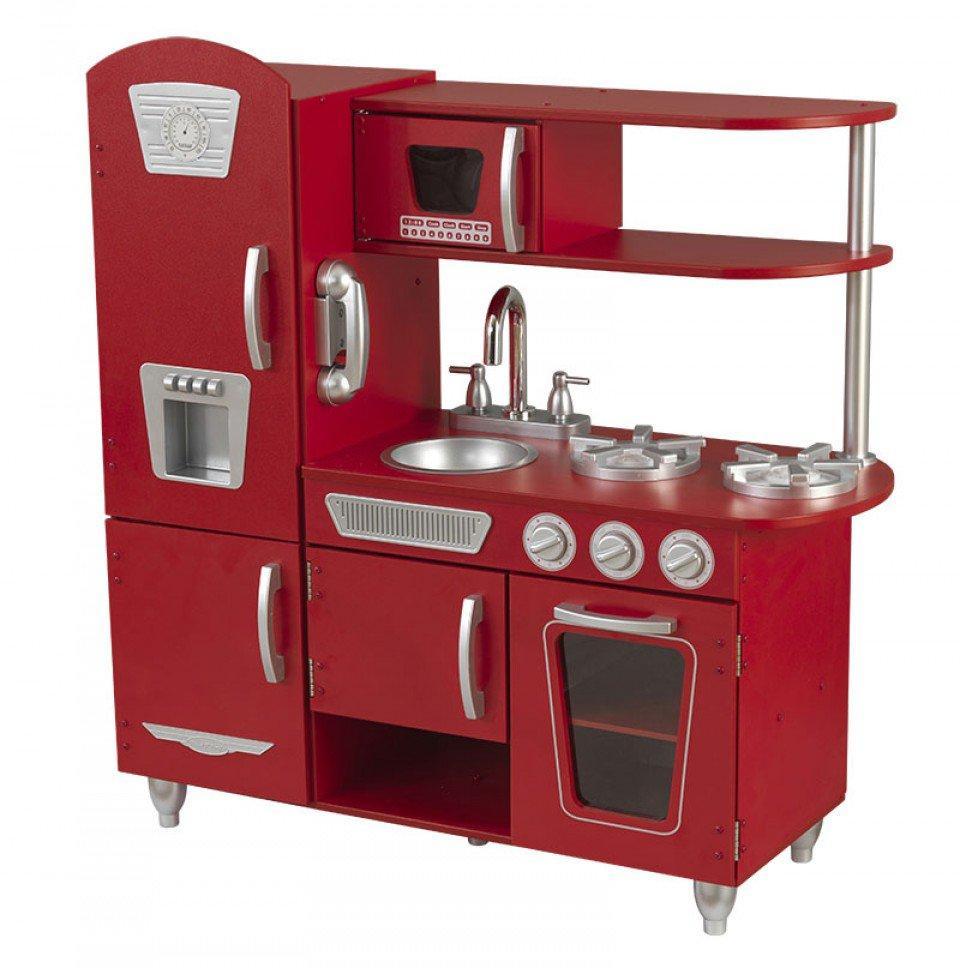 KidKraft Červená dřevěná kuchyňka Vintage