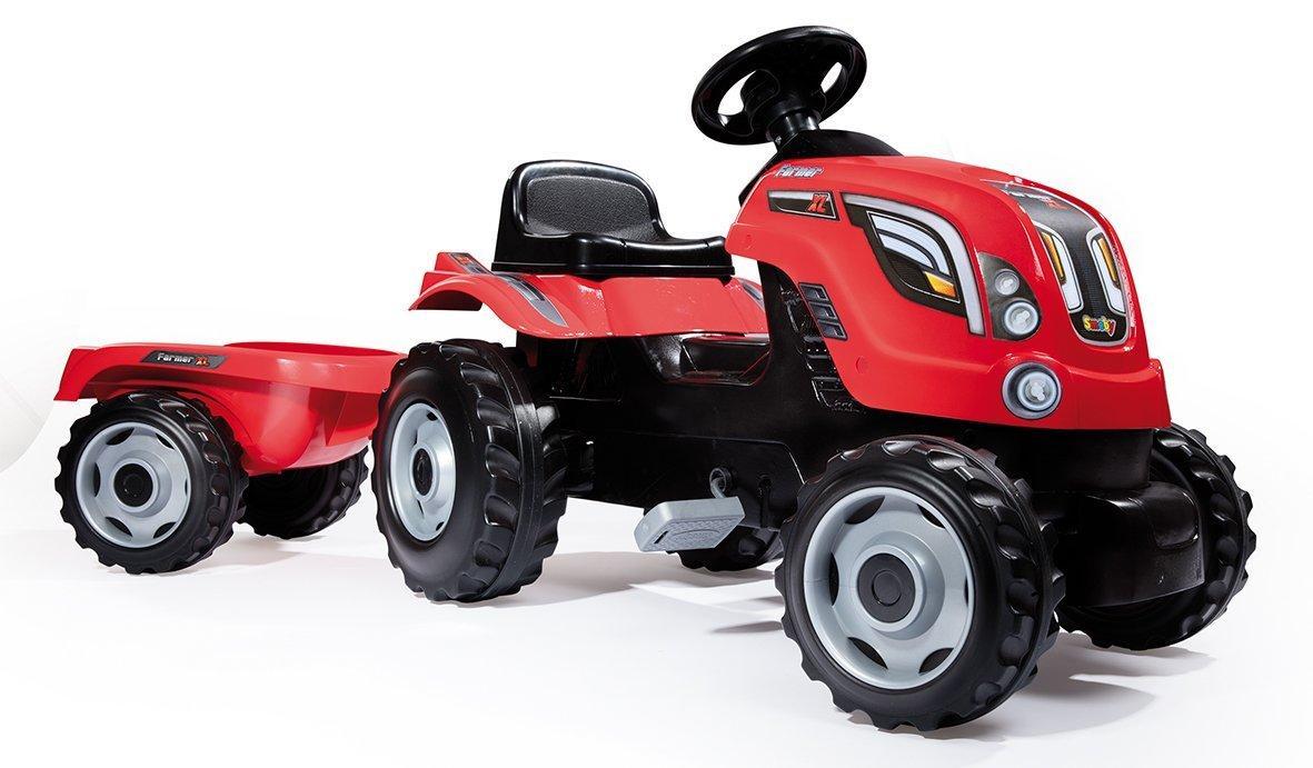 Smoby Šlapací traktor GM Bull s vlekem Šlapací traktor GM Bull červený s vlekem
