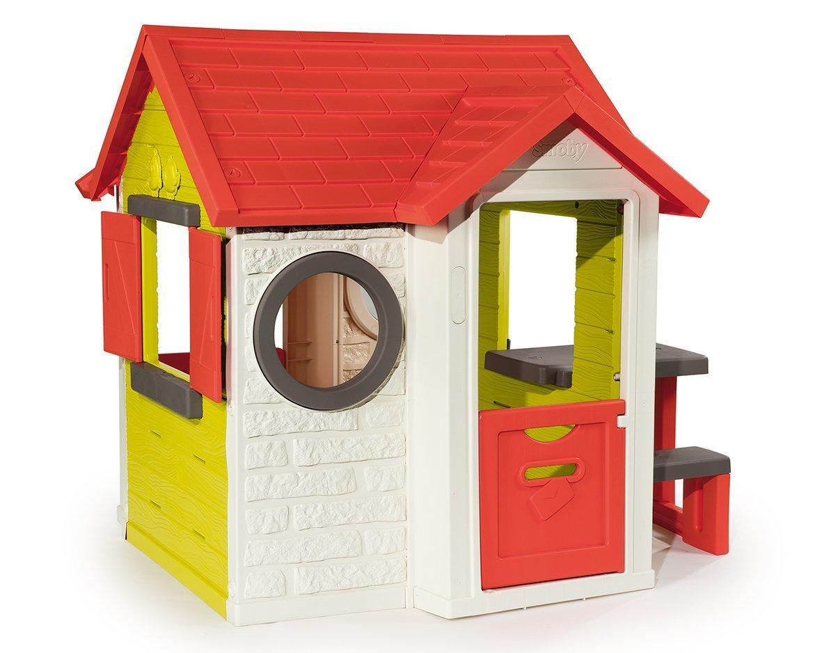 Smoby Detský domček My House s 2 dverami a elektronickým zvončekom+piknik stolík