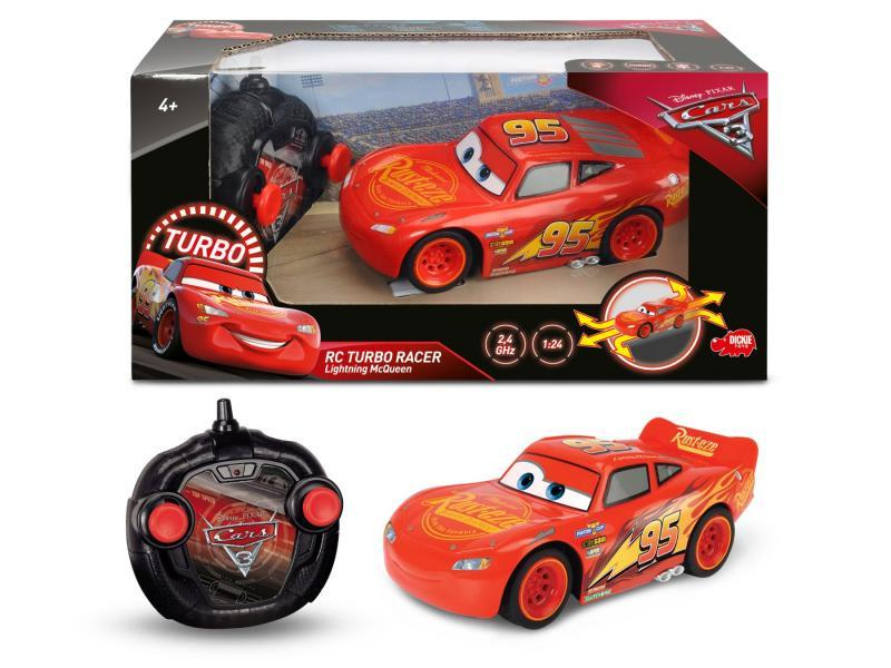 RC Cars 3 Turbo Racer Blesk McQueen 1:24 17cm 2kan