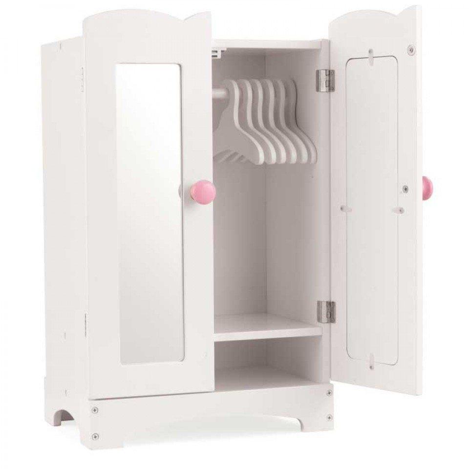 KidKraft Dřevěná skříň na oblečky pro panenky 60132