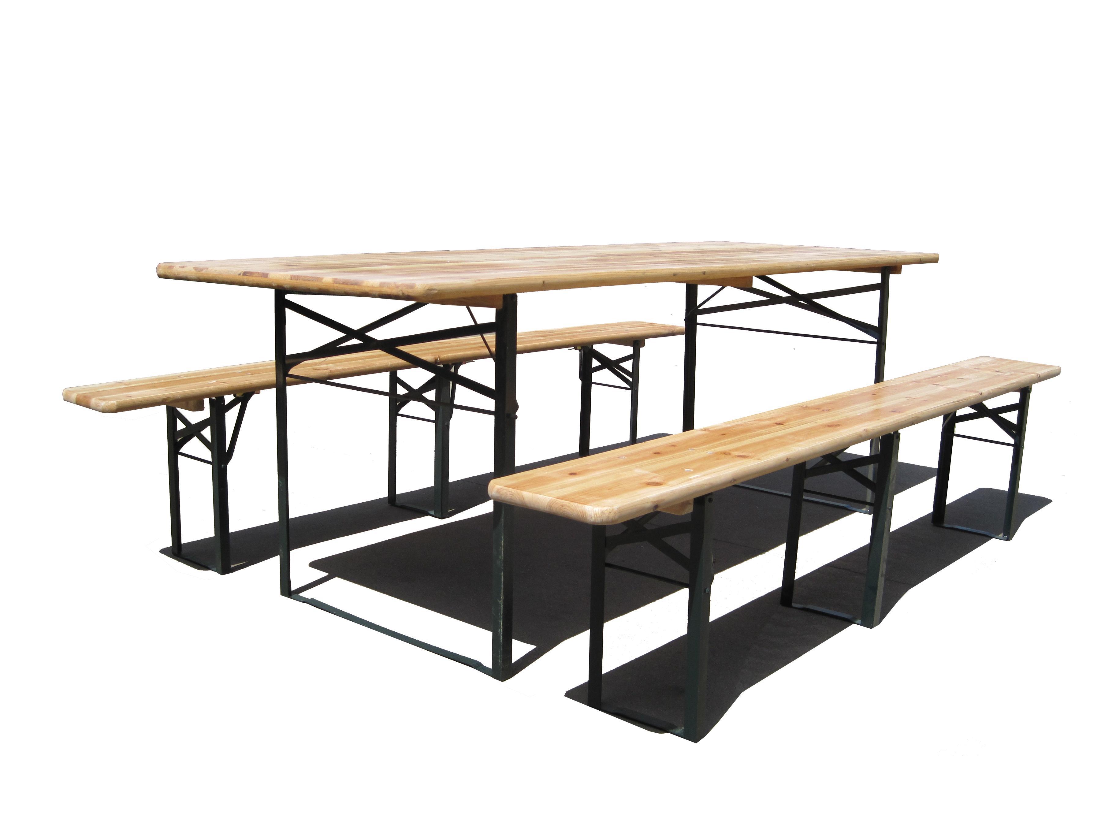 Pivní set 220 x 50 x 25 cm 3 nohy na lavici | B kvalita