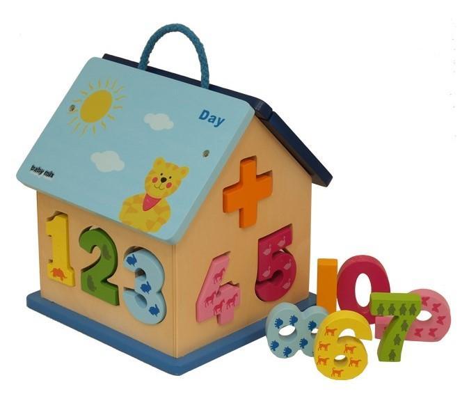 Baby Mix Dřevěný edukační domeček