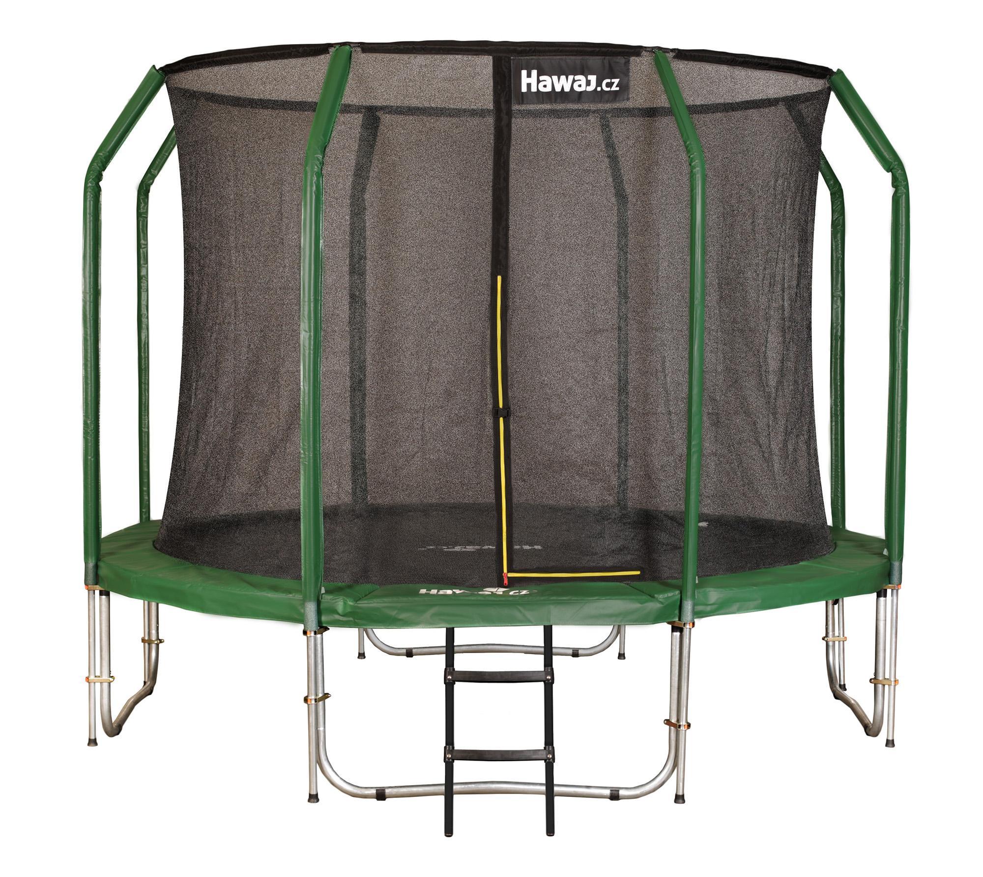 Trampolína Hawaj 427 cm + vnitřní ochranná sít + schůdky zdarma