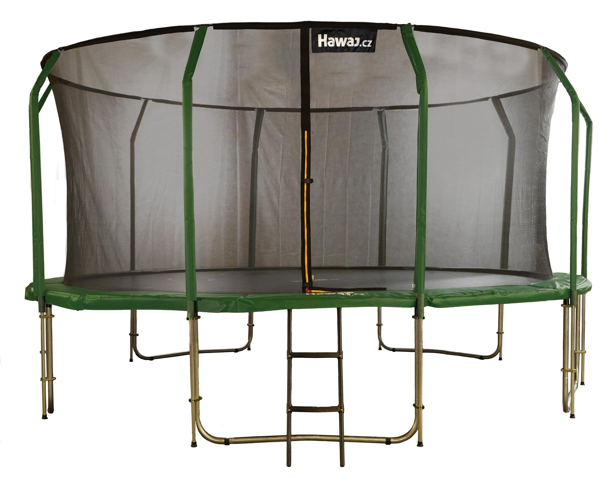 Trampolína Hawaj 457 cm + vnitřní ochranná sít + schůdky